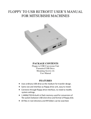 Mitsubishi Floppy to USB Retrofit User Manual
