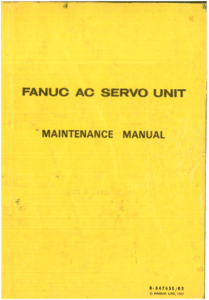Fanuc AC Servo Unit Maintenance Manual