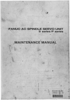 Fanuc AC Spindle Servo Unit P Series Maintenance Manual