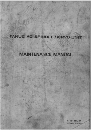 Fanuc AC Spindle Servo Unit Maintenance Manual