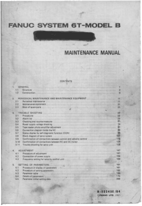 Fanuc 6T Maintenance Manual