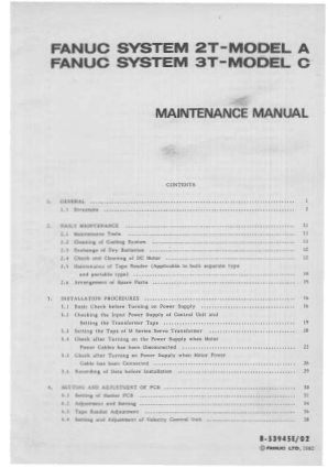 Fanuc 3t Maintenance Manual