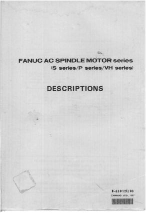 Fanuc AC Spindle Motor Series Descriptions