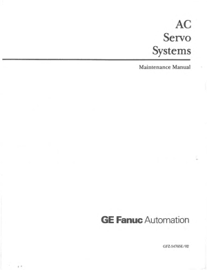 Fanuc AC Servo Systems Maintenance Manual