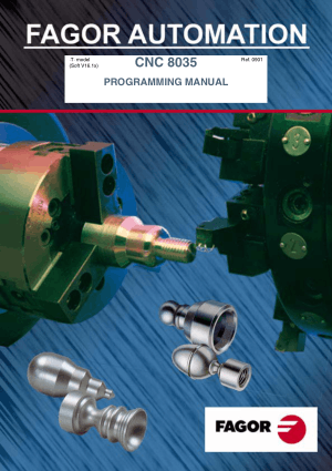 Fagor CNC 8035 Programming Manual