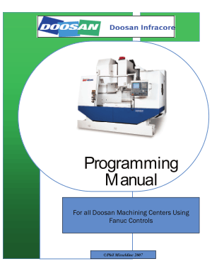 Doosan Programming Manual Fanuc Controls