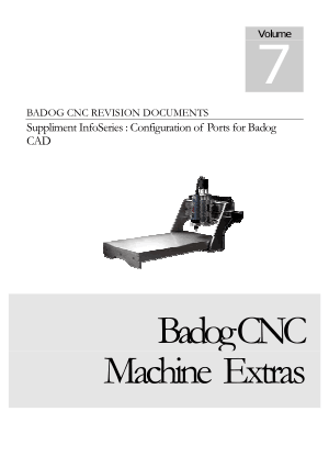 Badog CNC Configuration of Ports for Badog CAD