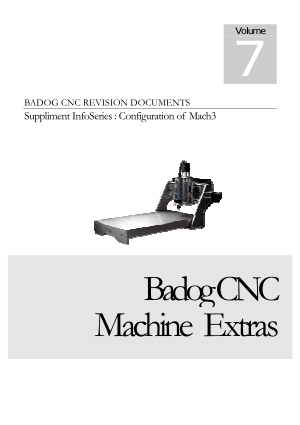 Badog CNC Configuration of Mach3