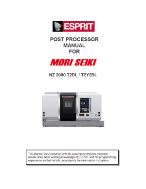ESPRIT CAM Post Processor Manual MORI SEIKI NZ 2000