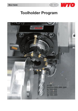 Mori Seiki Toolholder Program
