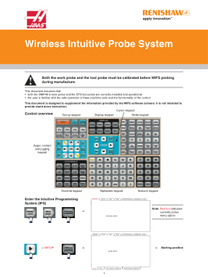 Renishaw Haas Wireless Intuitive Probe System