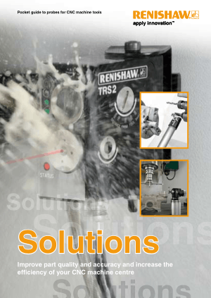 Renishaw Pocket Guide to Probes for CNC Machine Tools