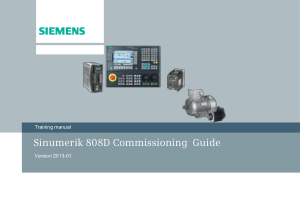 Sinumerik 808D Commissioning Guide