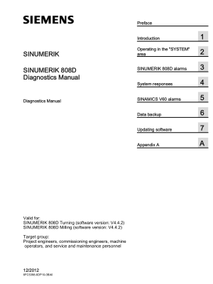 Sinumerik 808D Diagnostics Manual