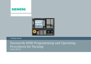 Sinumerik 808D Procedures for Turning