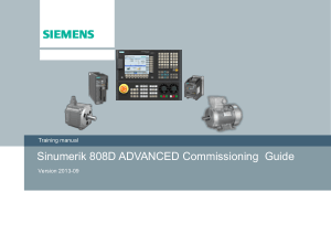 Sinumerik 808D Advanced Commissioning Guide