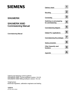 Sinumerik 808D Commissioning Manual