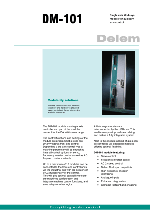 Delem DM-101 Technical Specifications
