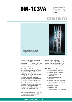 Delem DM-103VA Technical Specifications