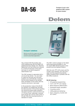 Delem DA-56 Technical Specifications