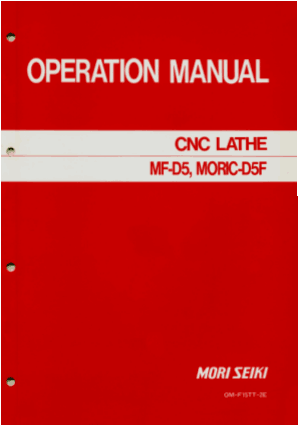 Mori Seiki MF-D5 M0RIC-D5F Operating Manual