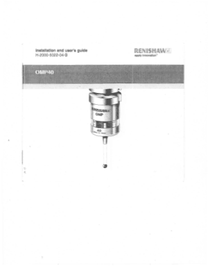 Renishaw OMP40 Installaion & User Guide