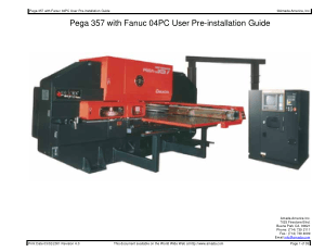 Amada Pega 357 with Fanuc 04PC Pre-installation Guide