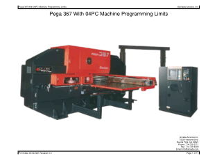 Amada Pega 367 With 04PC Machine Programming Limits