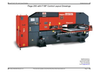 Amada Pega 255 with F18P Control Layout Drawings