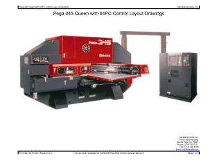 Amada Pega 345 Queen with 04PC Layout Drawings