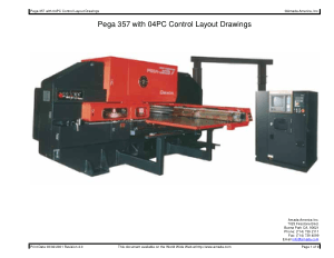 Amada Pega 357 with 04PC Control Layout Drawings