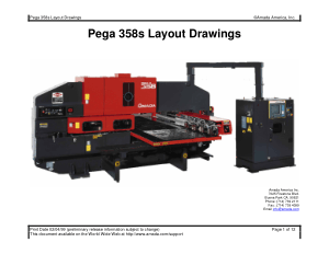Amada Pega 358s Layout Drawings