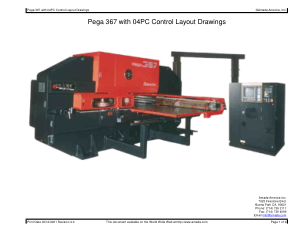 Amada Pega 367 with 04PC Control Layout Drawings