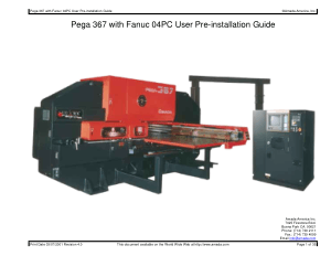 Amada Pega 367 with Fanuc 04PC Pre-installation Guide
