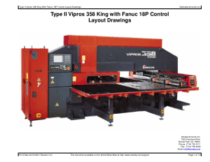 Amada Type II Vipros 358 King Fanuc 18P Layout Drawings