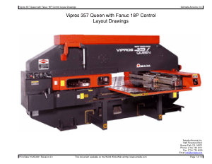 Amada Vipros 357 Queen with Fanuc 18P Layout Drawings