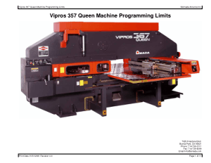 Amada Vipros 357 Queen Machine Programming Limits