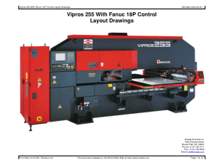 Amada Vipros 255 With Fanuc 18P Layout Drawings