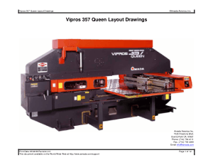 Amada Vipros 357 Queen Layout Drawings