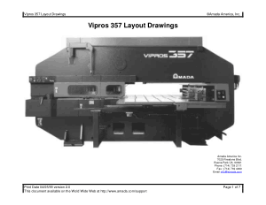 Amada Vipros 357 Layout Drawings