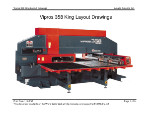 Amada Vipros 358 King Layout Drawings