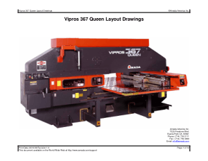 Amada Vipros 367 Queen Layout Drawings