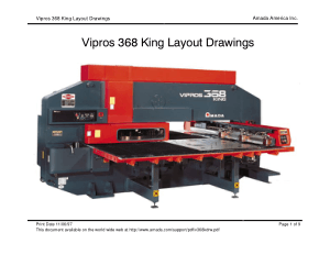 Amada Vipros 368 King Layout Drawings