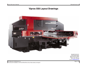 Amada Vipros 558 Layout Drawings