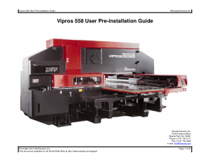 Amada Vipros 558 User Pre-installation Guide