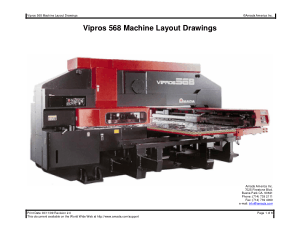 Amada Vipros 568 Machine Layout Drawings