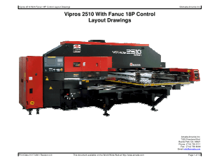 Amada Vipros 2510 With Fanuc 18P Layout Drawings