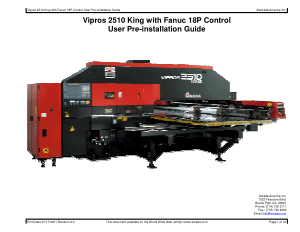 Amada Vipros 2510 King with Fanuc 18P Pre-installation Guide