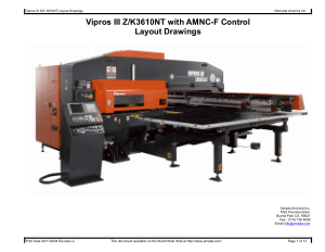 Amada Vipros III Z K3610NT with AMNC-F Layout Drawings