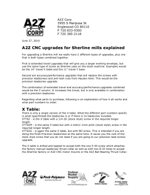 A2Z CNC Upgrades for Sherline Mills Explained